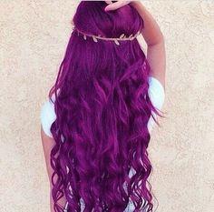 Purple hair/mermaid