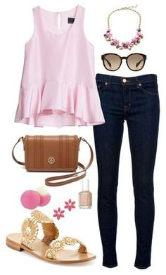 Kate spade and prada jack rogers, preppy college style, preppy style, polyv Style Outfits, Girly Outfits, Casual Outfits, Cute Outfits, Fashion Outfits, Womens Fashion, Fall College Outfits, Spring Outfits, Preppy College