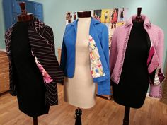 Angela Wolf shows how to add lining to jackets on It's Sew Easy @Vicky Lee Moreno Sews @Angela Gray Gray Wolf @Vogue Fabrics @Craftsy