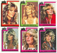 Charlie's Angels bubblegum cards.