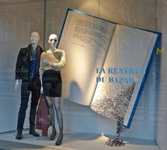 Window display - vitrine du BHV, la rentrée du bazar