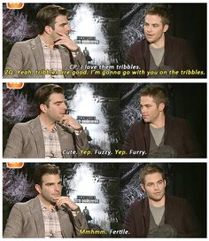 Star Trek Into Darkness    The Chris Pine + Zachary Quinto World Tour: What is your favorite alien?