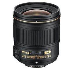 Nikon 28mm f/1.8G AF-S Nikkor Lens, USA Warranty - Bundle