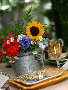 Outdoor table setting.....