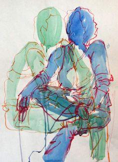 5 minute crayon and watercolor gesture sketches love gestures! Figure Painting, Figure Drawing, High School Art Projects, Jr Art, Ap Studio Art, Art Lesson Plans, Art Portfolio, Teaching Art, Art Studios