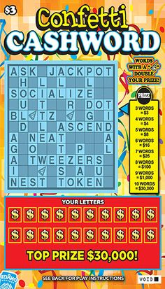 Cashword prizes for kids
