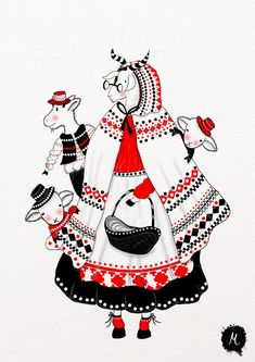 Fairytales | Russian Folk Art, Ukrainian Art, Pattern Illustration, Children's Book Illustration, Mother Art, Folk Embroidery, Classical Art, Pen Art, Cartoon Art