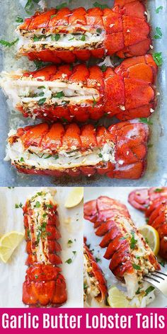 Garlic Butter Lobster Tails (Broiled in 8 Minutes!) – Rasa Malaysia Garlic Butter Lobster Tail – crazy delicious lobster in garlic herb and lemon butter. This lobster tail recipe is so delicious you want it for dinner every day! Lobster Recipes, Fish Recipes, Seafood Recipes, Gourmet Recipes, Cooking Recipes, Healthy Recipes, Delicious Recipes, Garlic Lobster Recipe, Dinner Recipes
