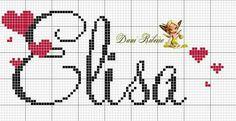 Alphabet, Cute Names, Cursive, Cross Stitch Patterns, Projects To Try, Crochet, Matilda, Nursery, Cross Stitch Alphabet Patterns