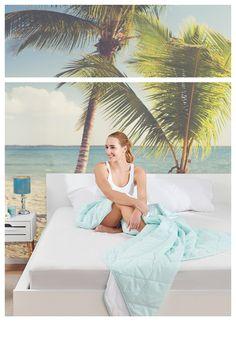 Super mäkký a priedušný paplón Four Seasons môžete používať po celý rok. V lete ho stačí rozopnúť a nechať si tenšiu časť.  #dormeo #bedroomideas #homedecor