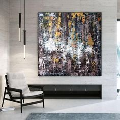 Original Acrylic Painting-Home Wall Art Large Abstract image 8 Colorful Artwork, Colorful Paintings, Office Wall Art, Home Wall Art, Texture Art, Texture Painting, Oversized Wall Art, Extra Large Wall Art, Modern Wall Decor