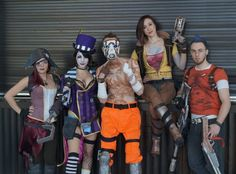 Scarlett, Moxxi, Lilith, Salvador, and a Psycho from Borderlands II