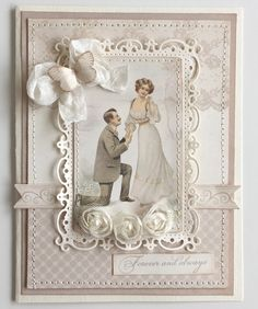 My very first card using the new Vintage Wedding collection.Have a nice day!JennyPion products:Vintage Wedding - Wedding bells - PD5904Vintage Wedding - Borders - PD5910Vintage Wedding - Images - PD5911
