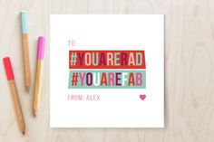Hashtag Valentine Classroom Valentine's Cards by Nazia Hyder at minted.com #Minted #Valentines