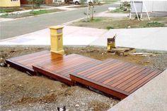 Modern Wooden Walkways Designs In Front Door -