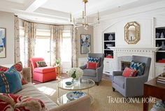 Who's afraid of color and pattern? Not this homeowner or the designer she called on to create a high-spirited family home