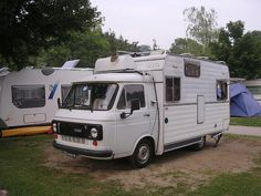 Our 1979 Fiat 238 E Arca 359 at the Camping La Piodella camping site Switzerland August 2010 2 by Patrick_Glesca, via Flickr
