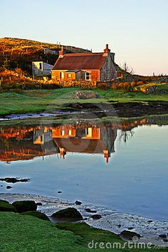 Crofter's cottage, Isle Of Mull Scotland, in a place called Kintra, to me this is what I would consider a dream home