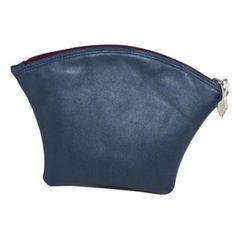 "Lederetui / Leather clutch ""Polypurse royal blue & violet metallic"""