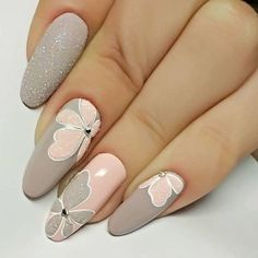 Get floral nail art and you're set to go. The patterns of floral nails art have gotten so intricate that it almost appears effortless. There are an assortment of things that could cause your nails to nice. Pretty Nail Art, Beautiful Nail Art, Gorgeous Nails, Shellac Nails, Acrylic Nails, Coffin Nails, Nail Polish, Winter Nails, Summer Nails