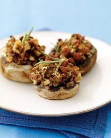 Hazelnut and Turkey-Squash Stuffed Mushrooms Recipe