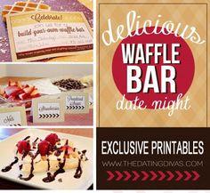 Waffle Bar Date Night {OR Family Night}