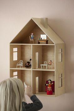 Casita de muñecas 1 - Houten poppenhuis
