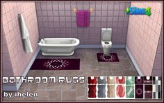 Ihelen Sims: Bathroom Rugs • Sims 4 Downloads