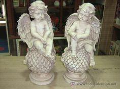 Lote 21253868: PAREJA DE ANGELES EN YESO CRUDO,SIN PINTAR Garden Sculpture, Angel, Outdoor Decor, Google, Home Decor, Gypsum, How To Paint, Sculpting, Porcelain