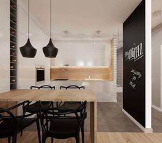 kuchnia z salonem : Minimalistyczna kuchnia od Ale design Grzegorz Grzywacz