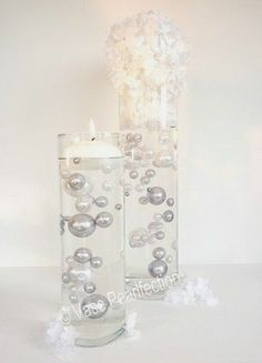 Unique Jumbo Assorted Sizes Silver White Pearls Vase Fillers 80pc Pack | eBay
