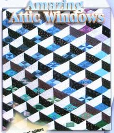 Amazing Attic Windows Pattern by Karen Combs at KayeWood.com For intermediate to advanced quilter who is ready to try something different!  This brochure shows the technique for making Karen's Amazing Attic Windows quilt. http://www.kayewood.com/item/Amazing_Attic_Windows_Pattern/2979 $14.00