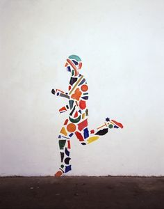 A sculpture made using scrap pieces of a Runner by Tony Cragg