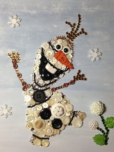 Everyone has fallen in love with Olaf the Snowman from the Disney movie Frozen. This 8 x 10 unframed art is freehand painted in the background and