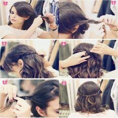 penteados simples para cabelos curtos dia a dia
