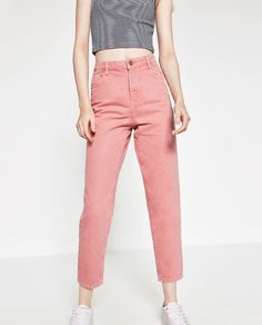 PIERCE PANT Bukser peach rinsed