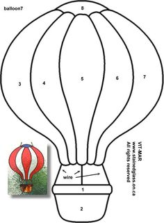 Free Stained-Glass Images | Free stained glass pattern - Hot Air Balloon