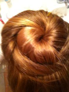 I did my own bun!!