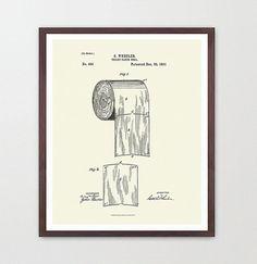 Toilet Paper Design Print  Bathroom Art  by WunderKammerEditions, $7.00