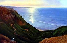 """""""Torrey Pines Evening"""", oil on canvas, 24""""x36"""", by Katarzyna Lappin. My website www.katarzynalappin.com"""