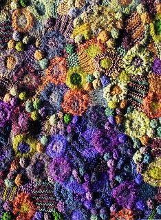 Prudence Mapstone, freeform knitting