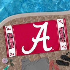Alabama Crimson Tide Design Beach Towel - Crimson