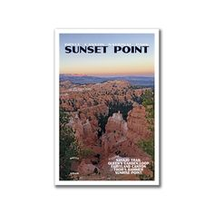 20% coupon: JUSTGOPIN201720 | Sunset Point Poster | Bryce Canyon National Park Poster | Travel Poster by JustGoTravelStudios