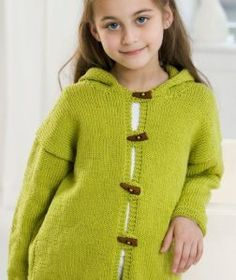Free Knitting Pattern for Smoothie Hooded Jacket