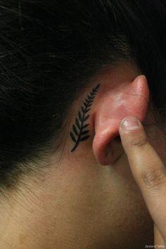Maori Kiwiana Silver Fern Black Tattoojpg