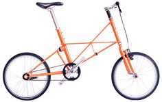 TSR 2 is made by Moulton, a famous british bicycle company. I like the bright orange, belt drive, and oddly architectural frame.
