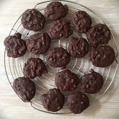 Triple Chocolate Cookies just out of the oven!