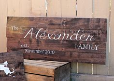 Hey, I found this really awesome Etsy listing at https://www.etsy.com/listing/208781528/rustic-ex-large-family-name-and-est-date