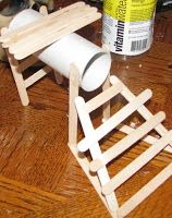 Popsicle stick ladders and tube