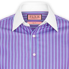Queensland Stripe Shirt - Double Cuff by Thomas Pink
